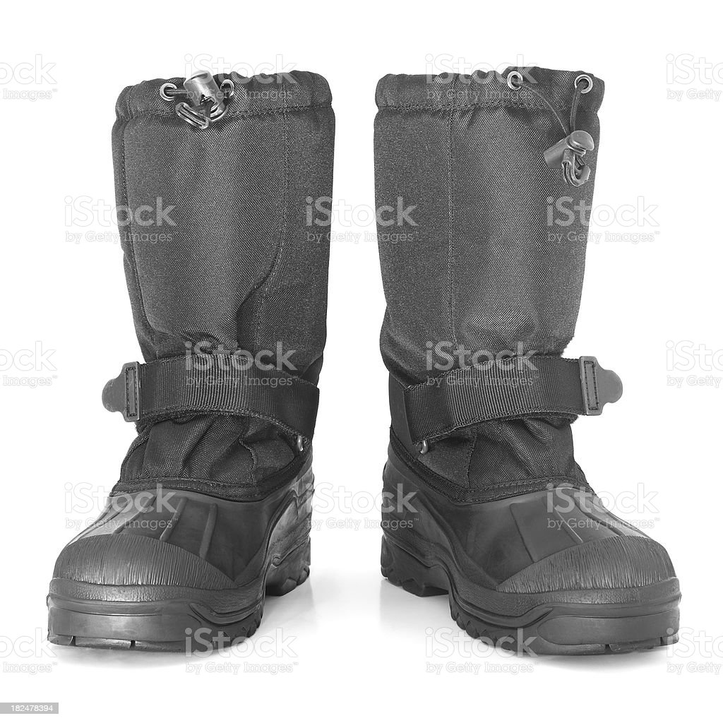 Snow boots Isolated on White royalty-free stock photo