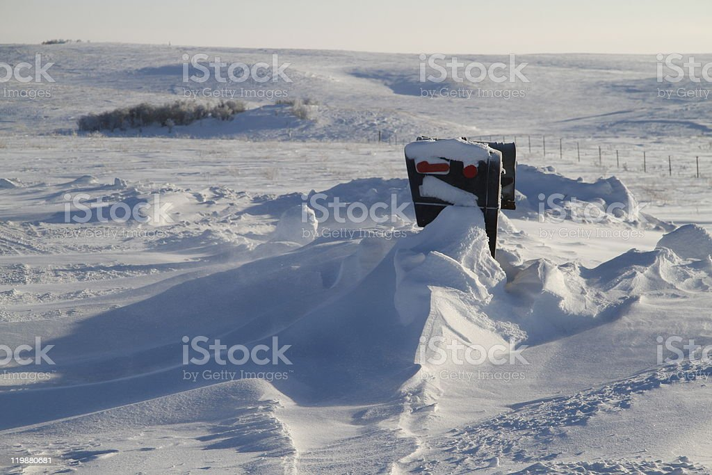 Snow Boxes royalty-free stock photo