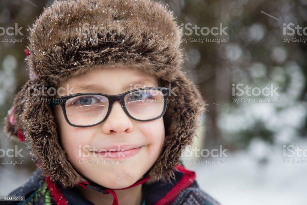 Snow Boy stock photo