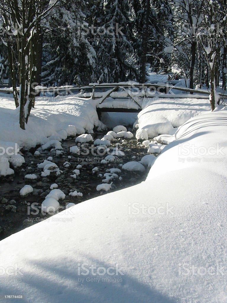 snow bridge royalty-free stock photo