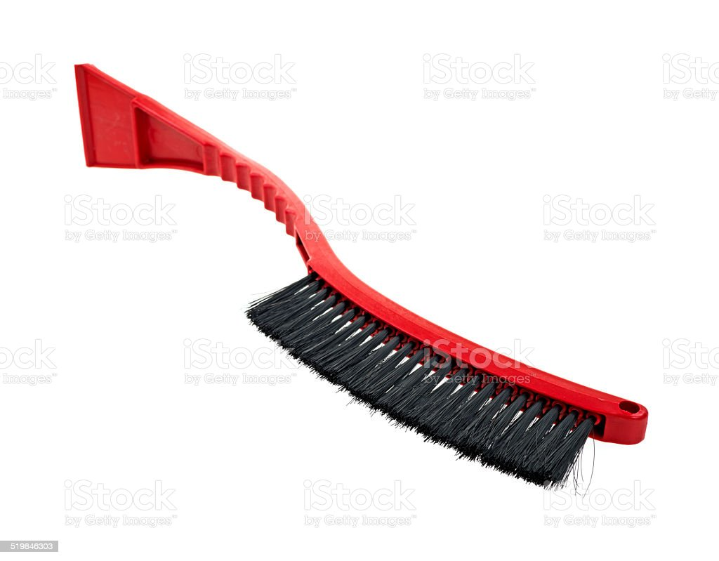 Snow brush and scrapper stock photo
