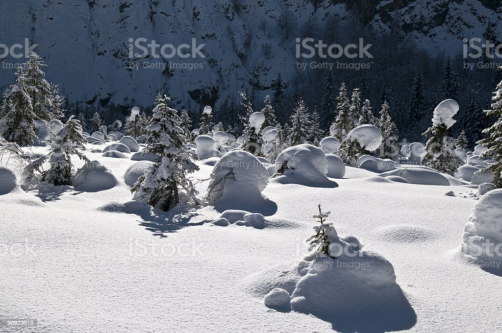 Snow Bubbles Ice Slope royalty-free stock photo