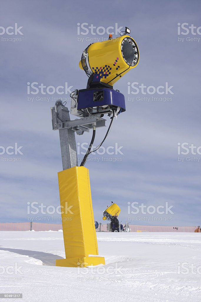 Snow cannon royalty-free stock photo