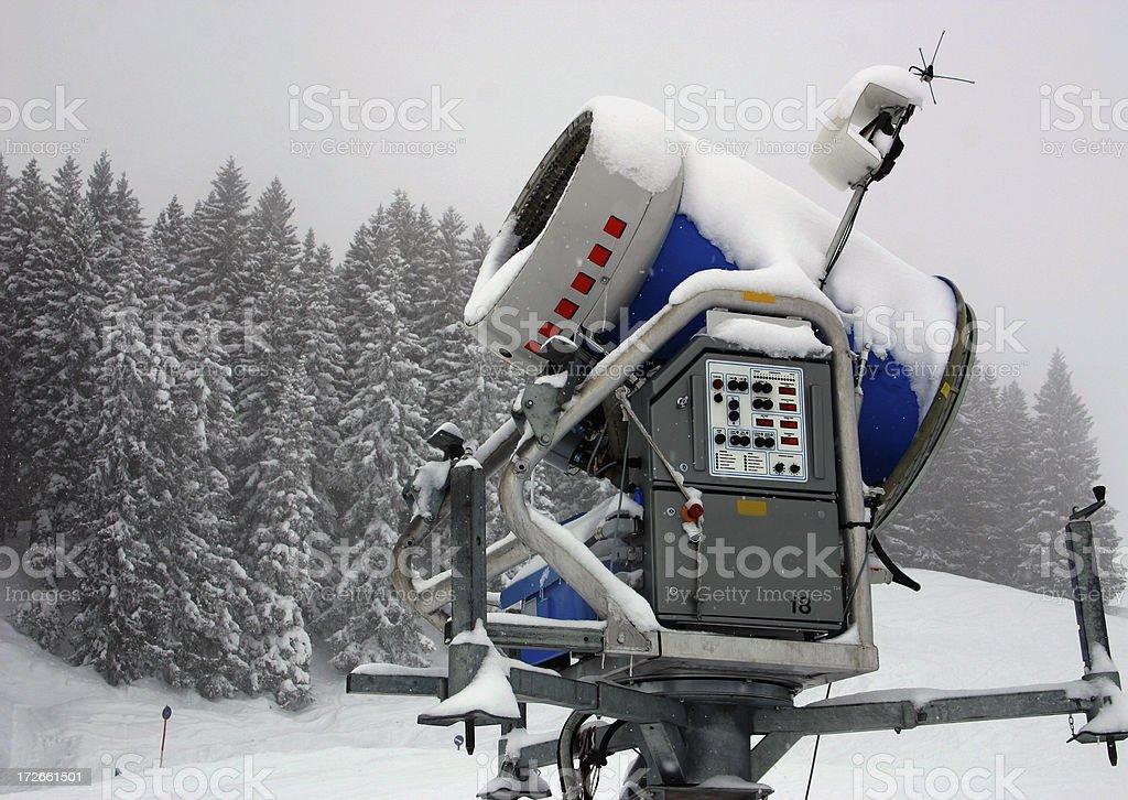 Snow canon royalty-free stock photo