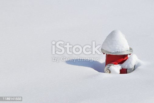 Snow cap at fire hydrant