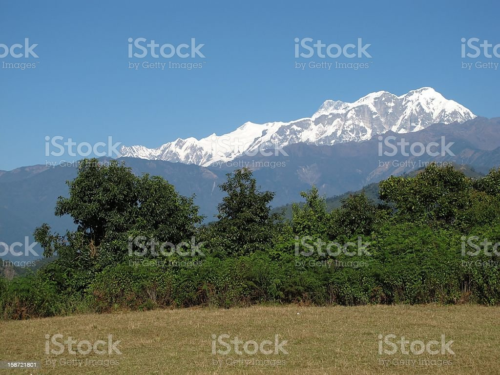 Snow Capped Annapurna Range royalty-free stock photo