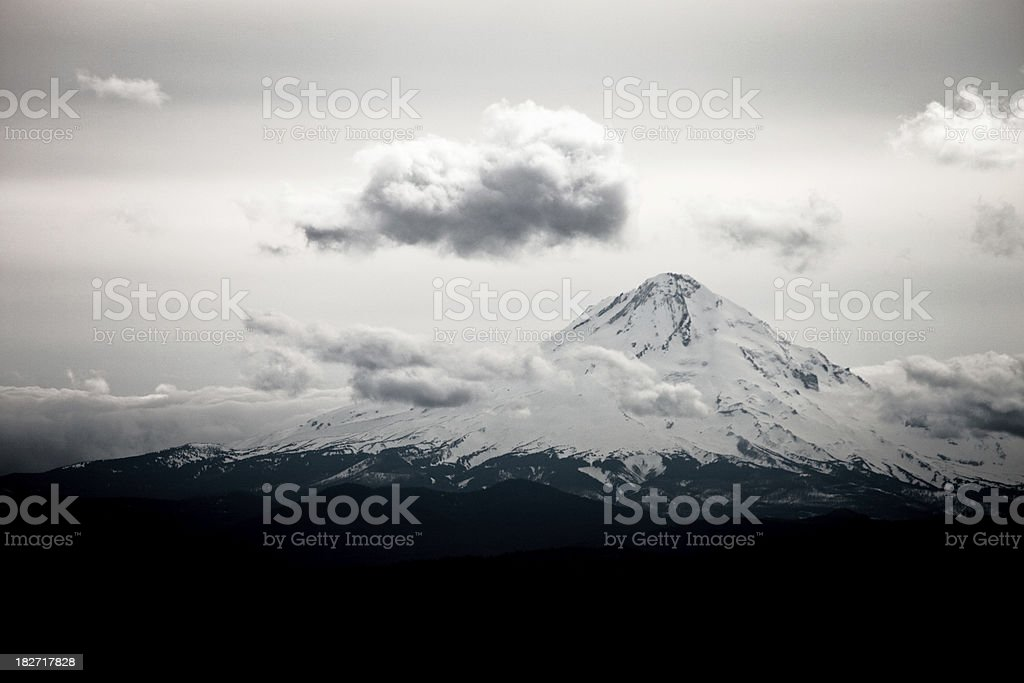 Snow Capped Mount Hood stock photo