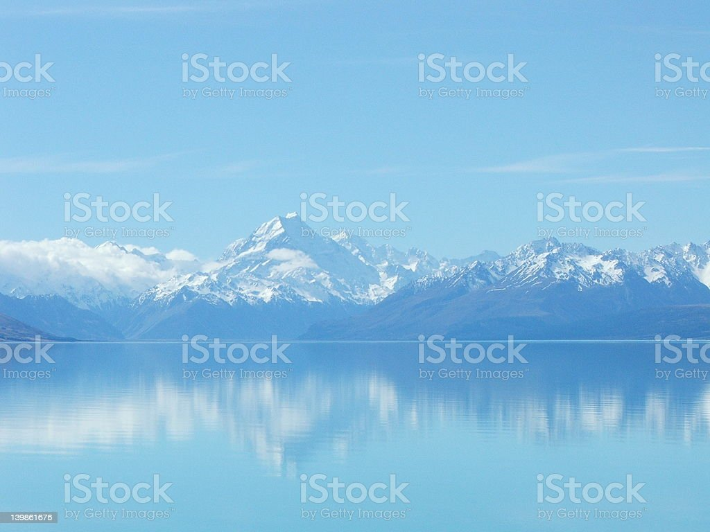 Snow Capped Mountains stock photo