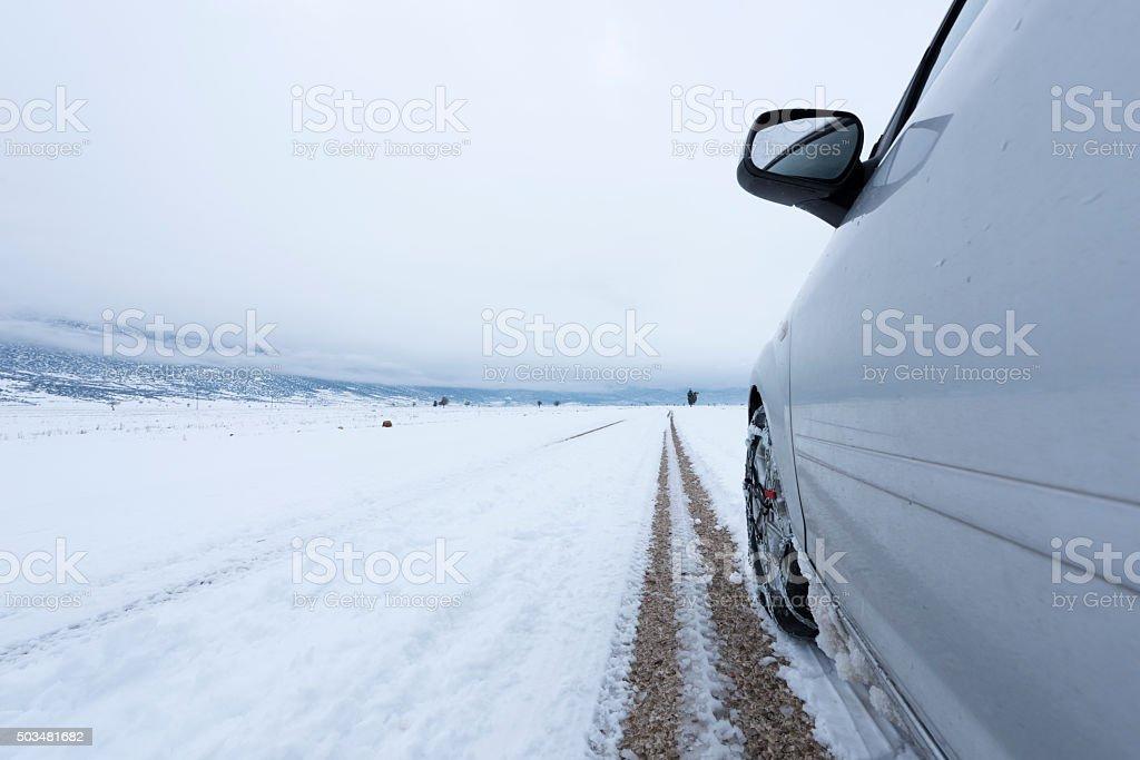Snow chains stock photo