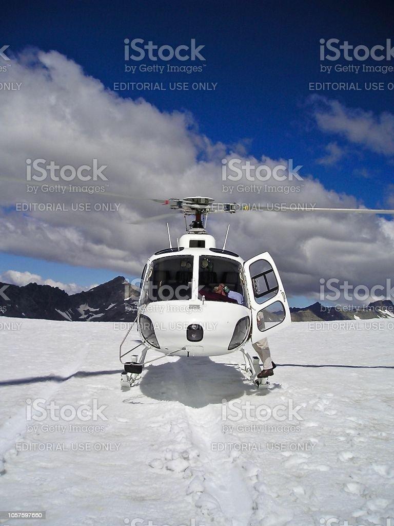 Snow Chopper on Mount Cook stock photo