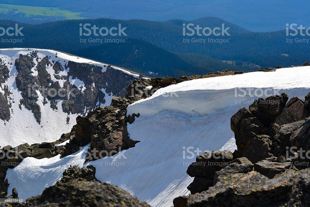 Snow Cliffs stock photo