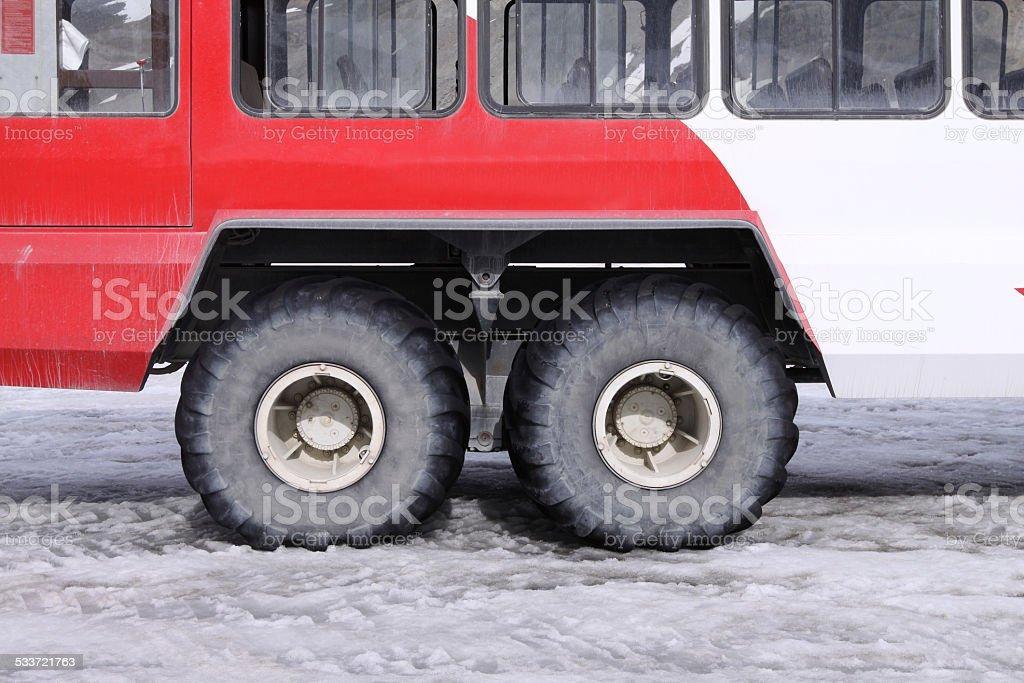 Snow Coach Detail stock photo