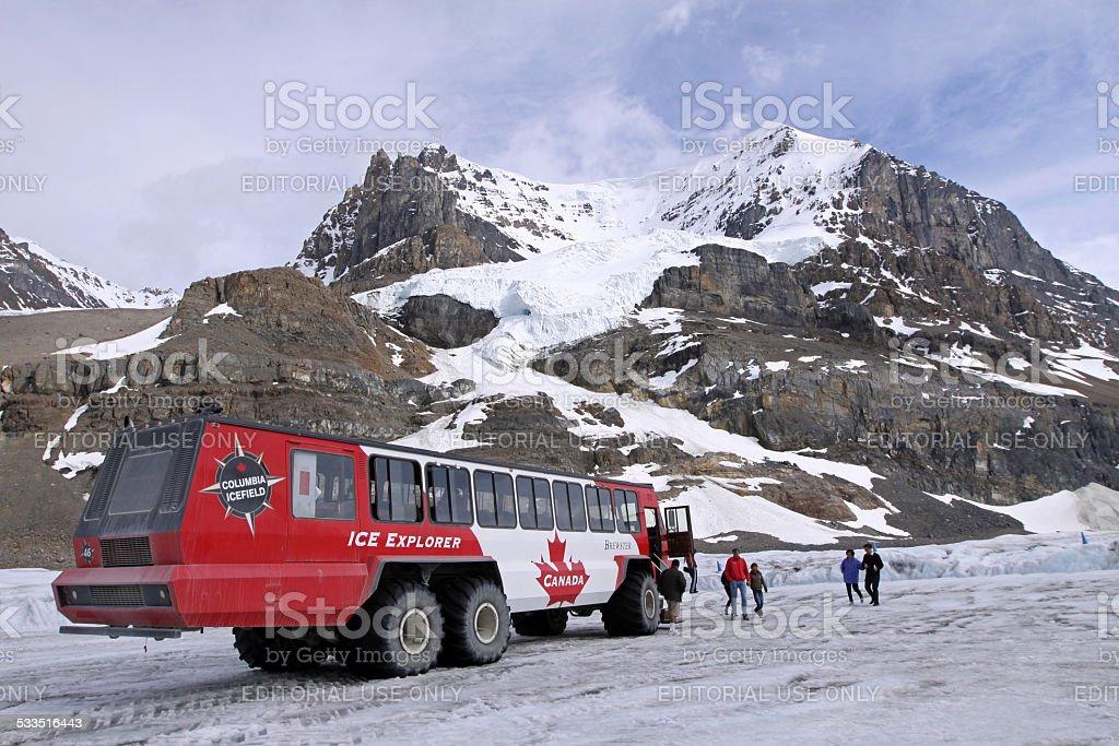 Snow Coach stock photo