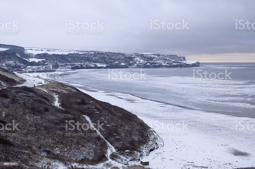 Snow Covered Beach royalty-free stock photo