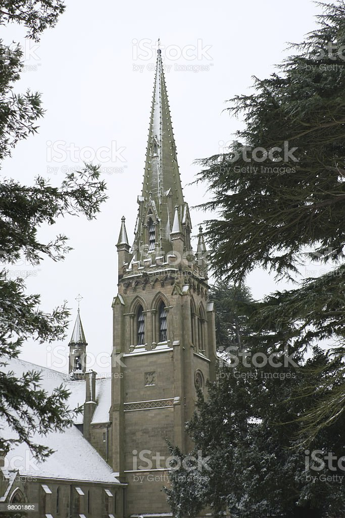 Snow Covered Church royalty-free stock photo