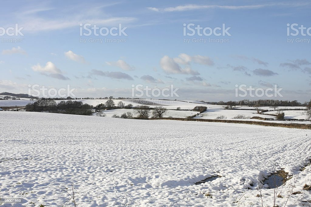 Snow Covered Countryside royalty-free stock photo