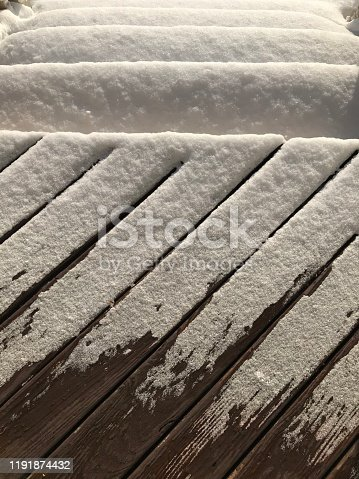 Snow Covered Deck and Stairs