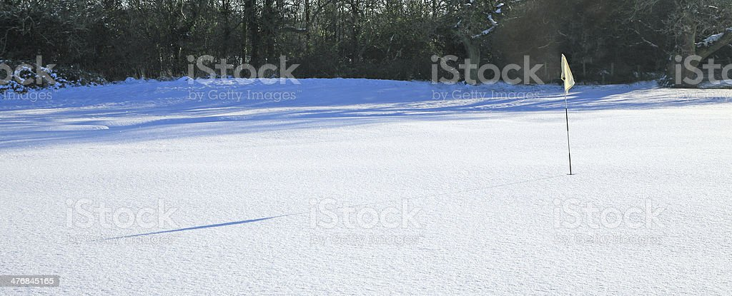 snow covered golf course royalty-free stock photo
