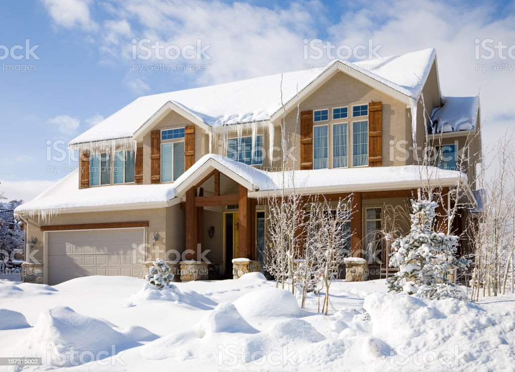 Snow Covered House stock photo