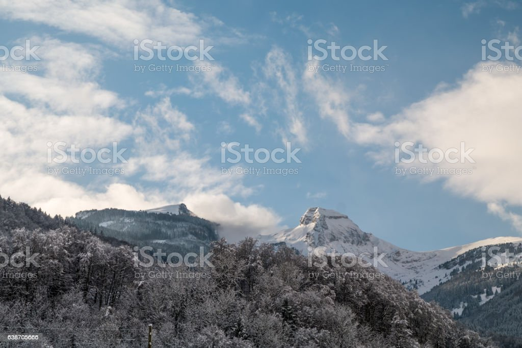 Schnee bedeckt Landschaft – Foto