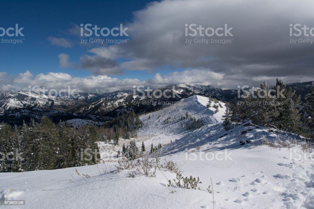 Snow covered landscape photo libre de droits