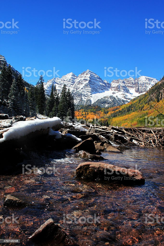 Snow Covered Maroon Bells Stock Photo Download Image Now