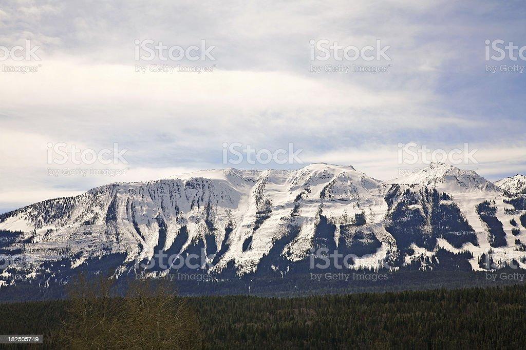 Snow Covered Mountain Panorama stock photo
