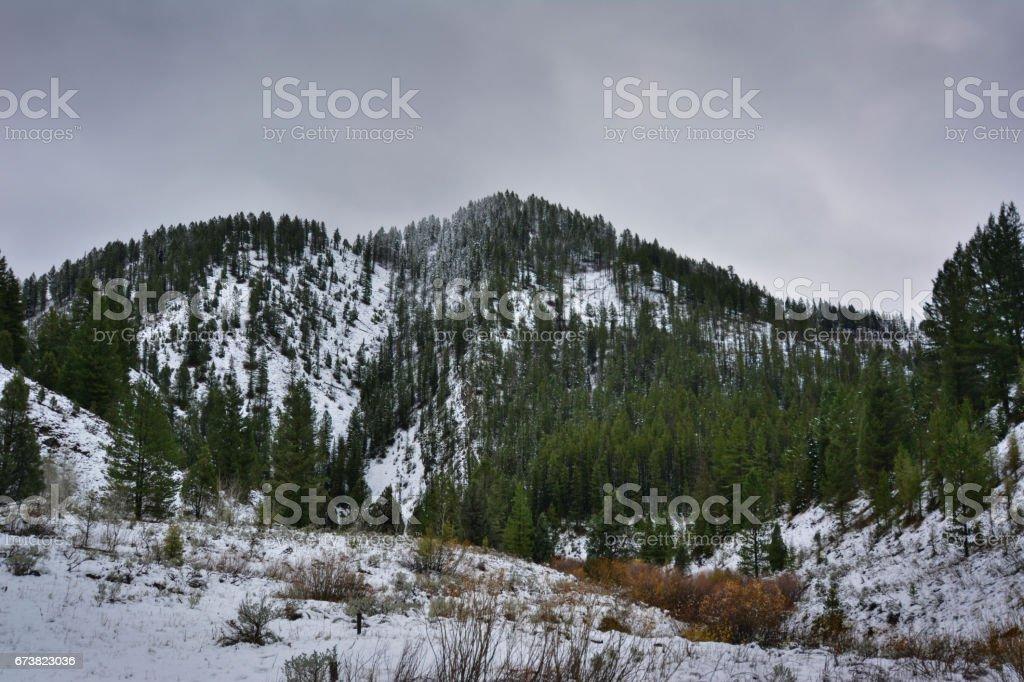 Snow Covered mountain photo libre de droits
