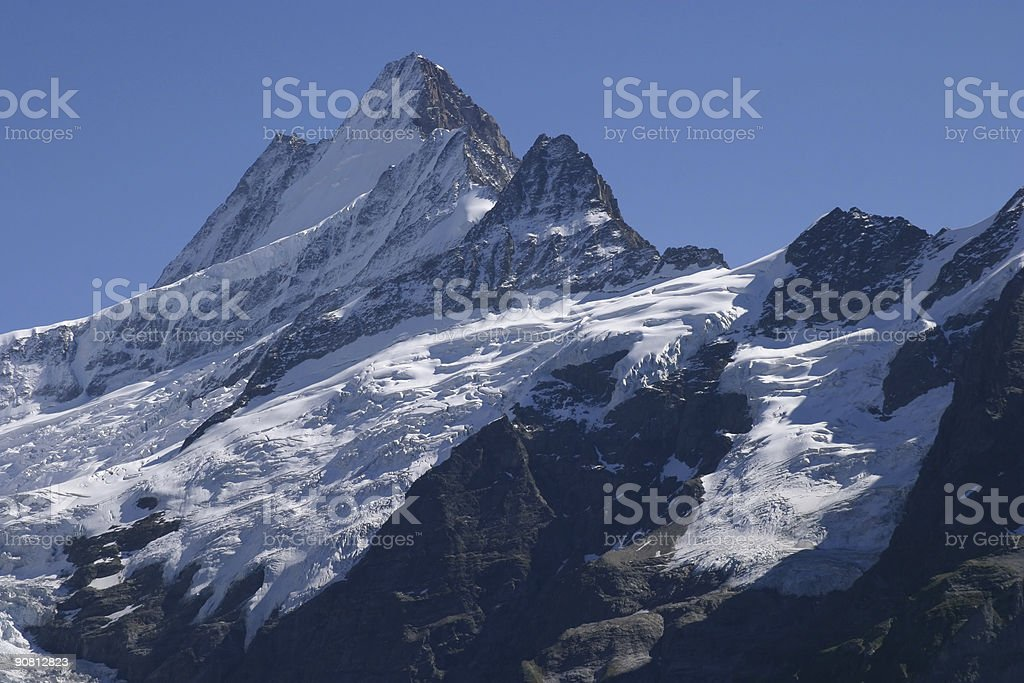 snow covered mountain royalty-free stock photo