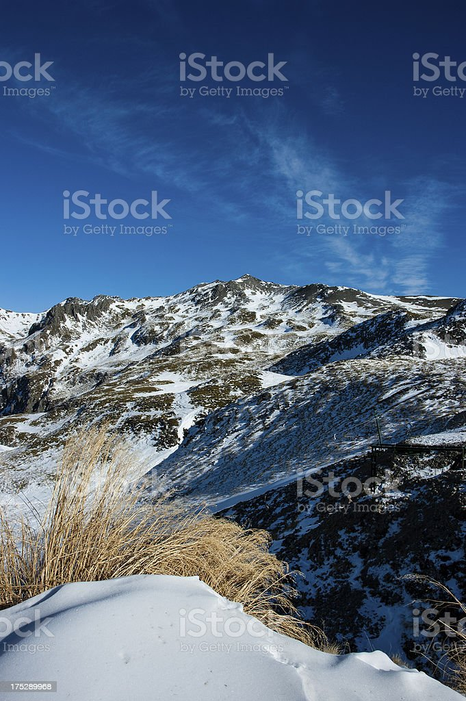 Snow covered mountain top royalty-free stock photo