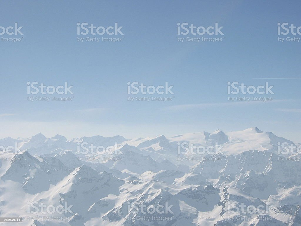 Snow covered mountains #2 royalty-free stock photo