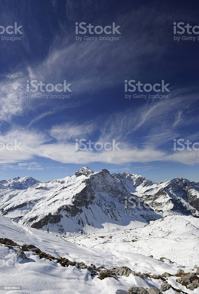 snow covered mountains royalty-free stock photo