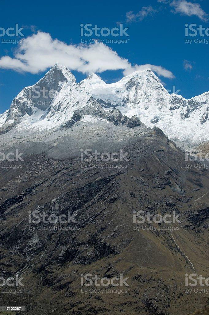Snow covered peak royalty-free stock photo