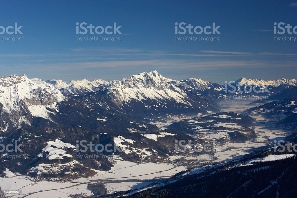 snow covered valley royalty-free stock photo