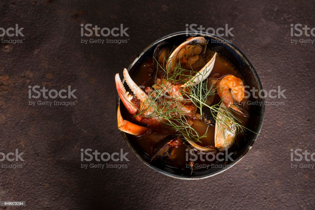 Snow Crab Cioppino stock photo