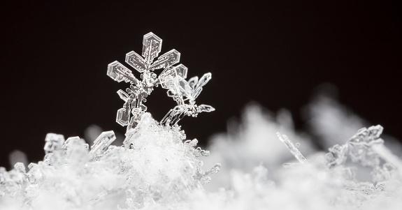 istock snow crystals, snow 1014605634