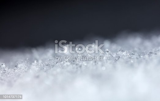 istock snow crystals, snow 1014737174