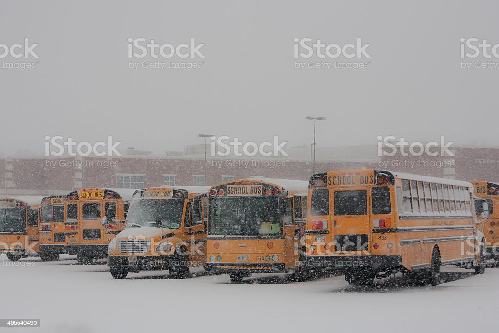 Snow day school closing stock photo