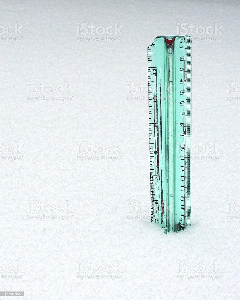 Snow Depth stock photo