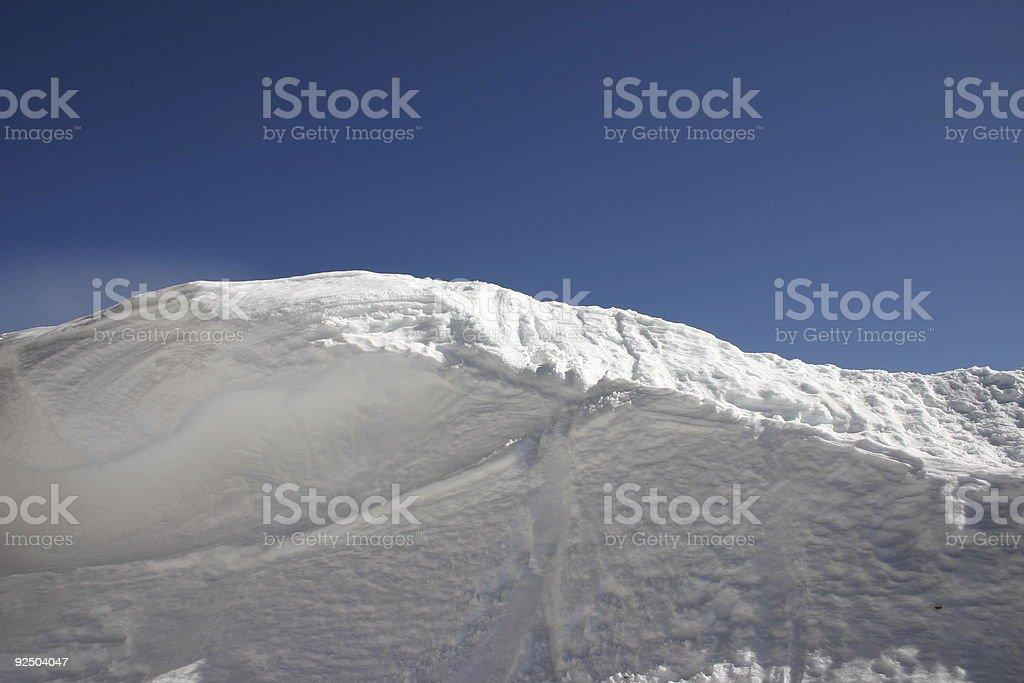 Snow Drift and Sky royalty-free stock photo