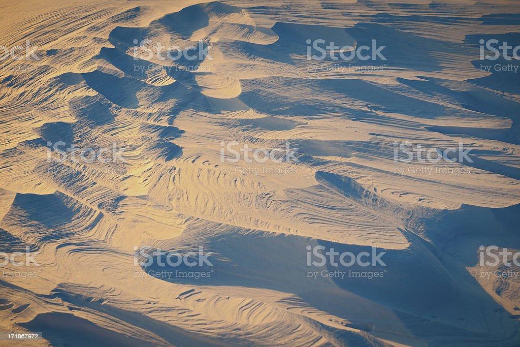 Snow Dunes Full Frame Background Slovenia royalty-free stock photo