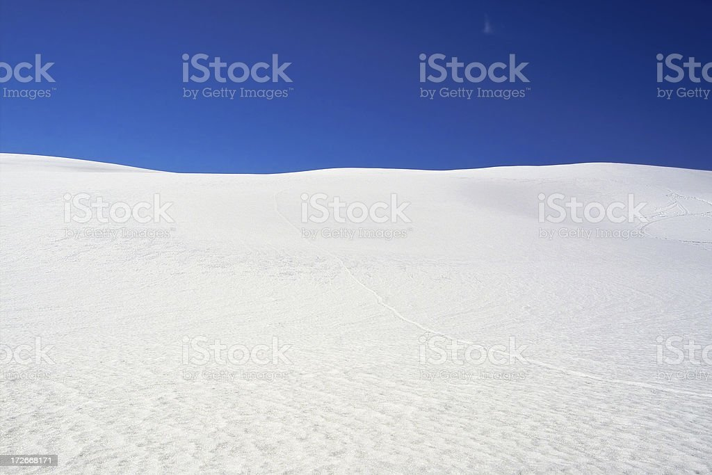 Snow Dunes stock photo