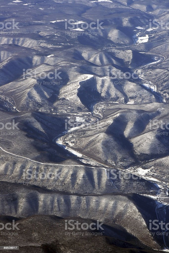 Snow grau-Berge Lizenzfreies stock-foto
