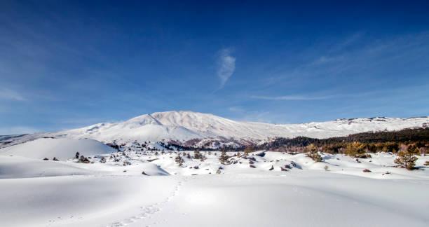 Snow Etna stock photo