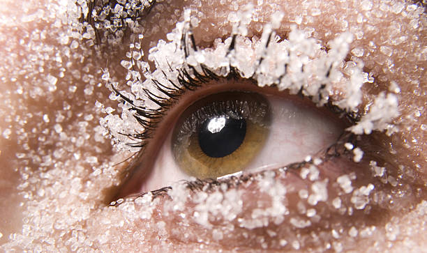 snow eye stock photo