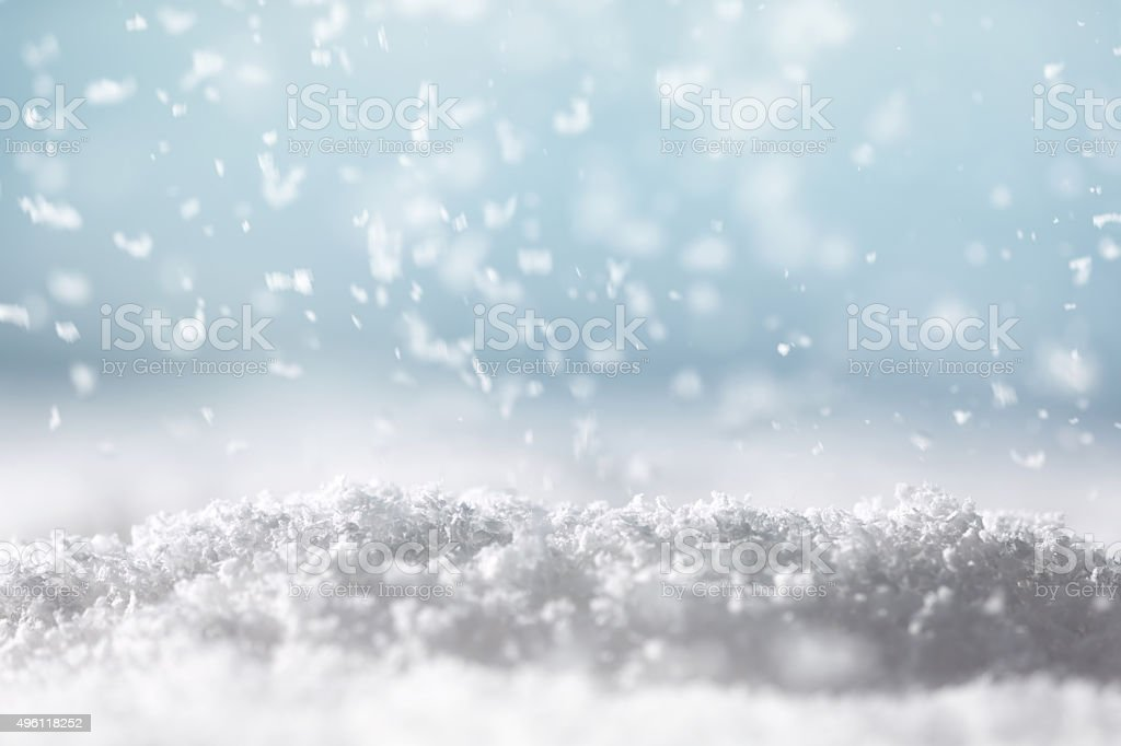 Snow Fall stock photo