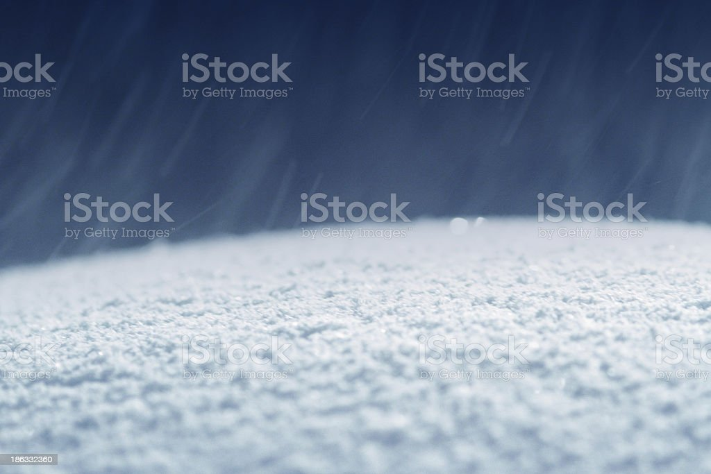 Snow falling down soft focus royalty-free stock photo
