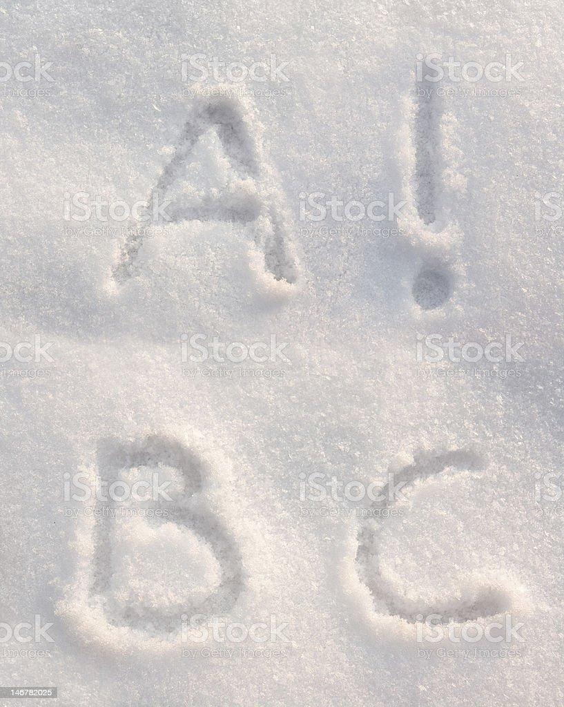 Snow font royalty-free stock photo