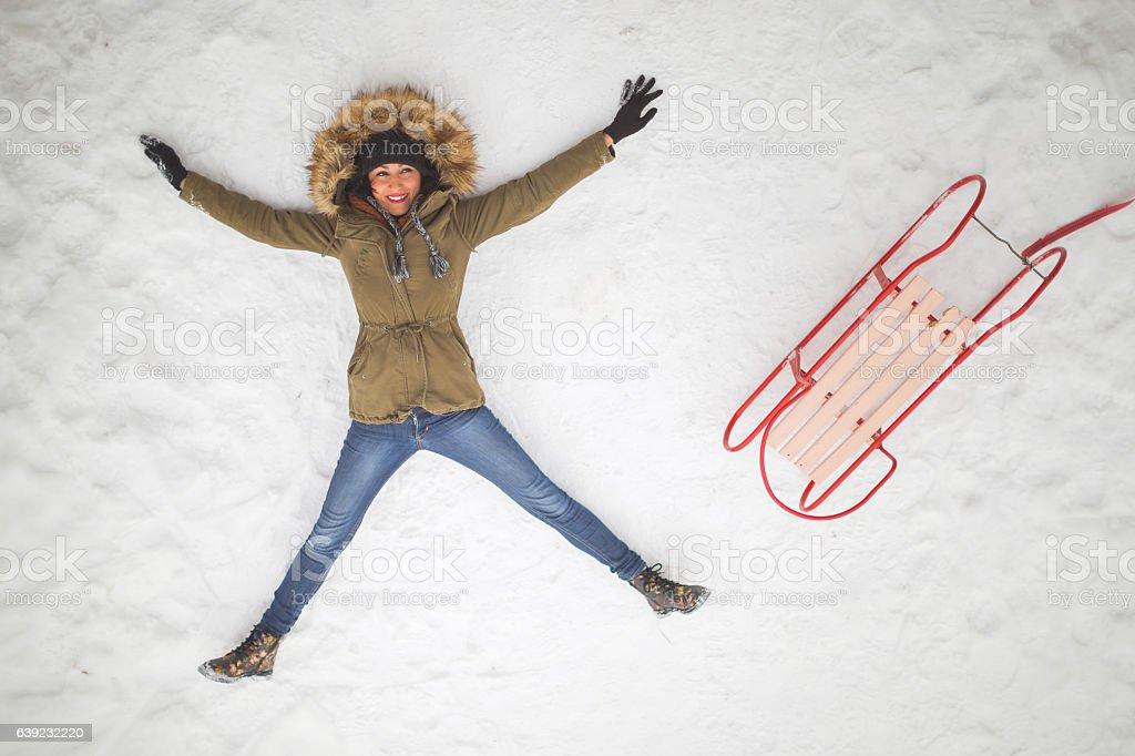 Snow freedom stock photo
