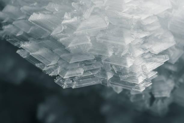 snow frozen ice figure frost stock photo